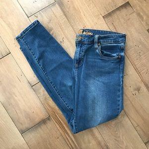 Kut From The Kloth Skinny Jeans Denim Distressed